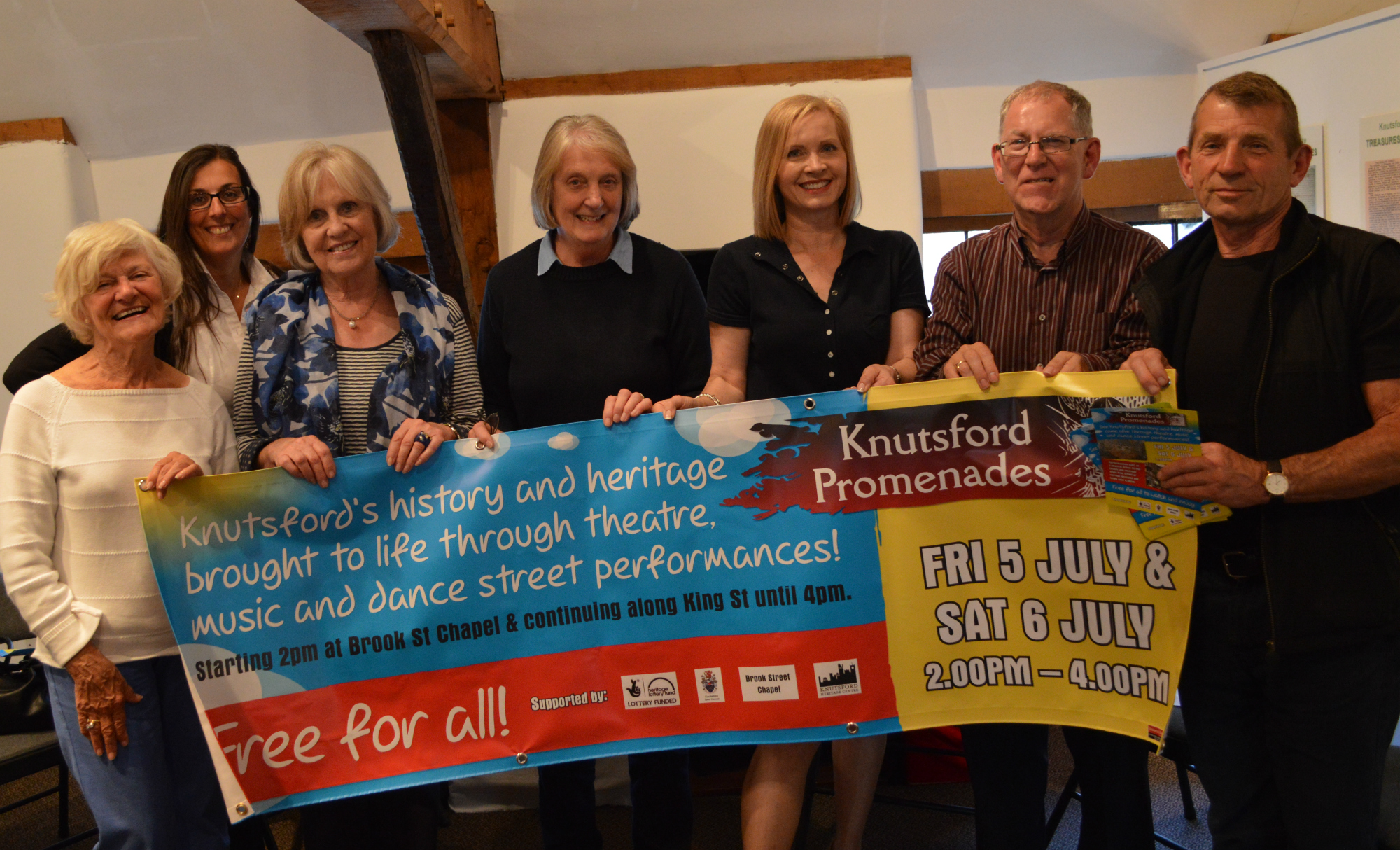 KNUTSFORD PROMENADES BANNER UNVEILED AT HERITAGE CENTRE