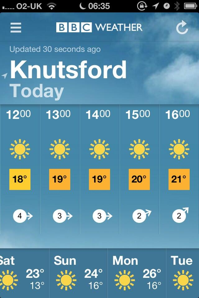 Fab weather forecast for first day of Knutsford Promenades