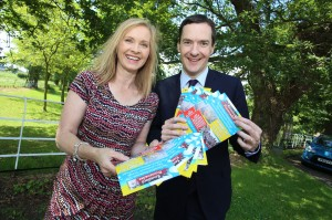 GEORGE Osborne MP, pictured with Sarah Flannery, has thrown his weight behind the Knutsford Promenades event