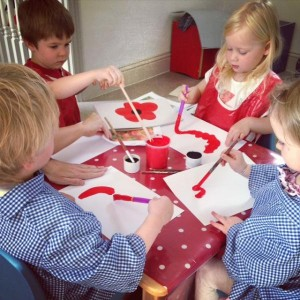 Poppies Day Nursery have helped Gusto make poppies for the Knutsford Proms Event.