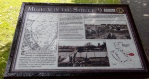 One of the Museum in the Street displays which tell the story of Knutsford's history.