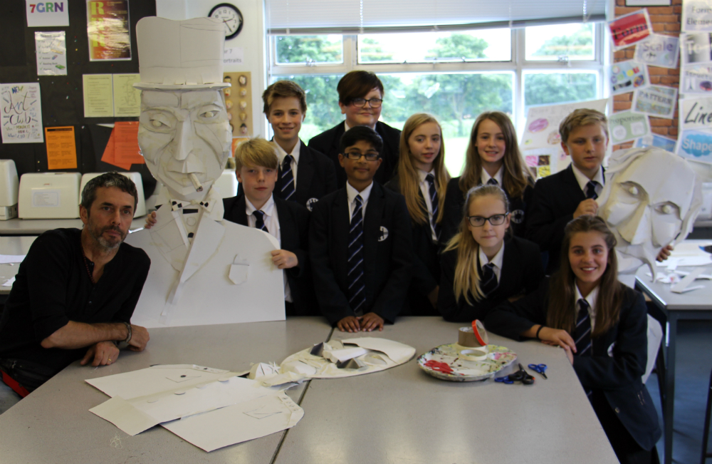 Knutsford pupils team up with artist for King Canute project
