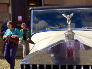The Rolls-Royce Cavalcade outside the former Court Court building