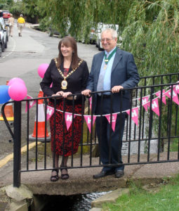 Cheshire East Mayor Cllr Olivia Hunter with her husband and consort Philp