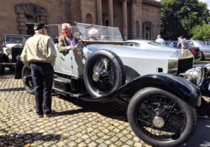 Vintage Rolls-Royce cars assemble outside the new Court House Hotel