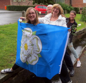Allison Whiteley and family celebrated Yorkshire Day by crossing the River Lily