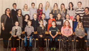 Pupils from Solbjergskolen who contributed to Canute's Crossing