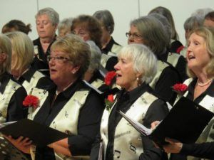 Knutsford The Weaver Valley WI Choir perform at Tabley House